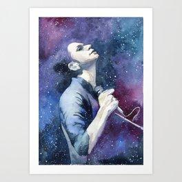 In the night sky Art Print