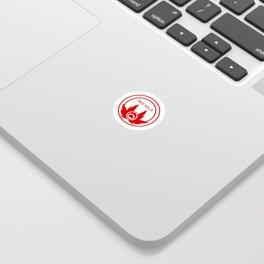 Red Halo Logo Sticker