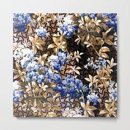 Geometric and Flowers Metal Print