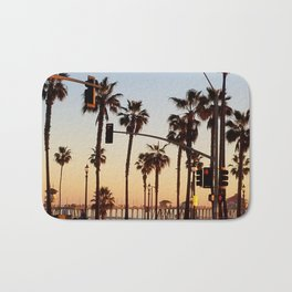 Huntington Beach Summer Sunset at the pier Bath Mat