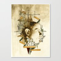architect Canvas Prints featuring The Architect by Joshua Kulchar