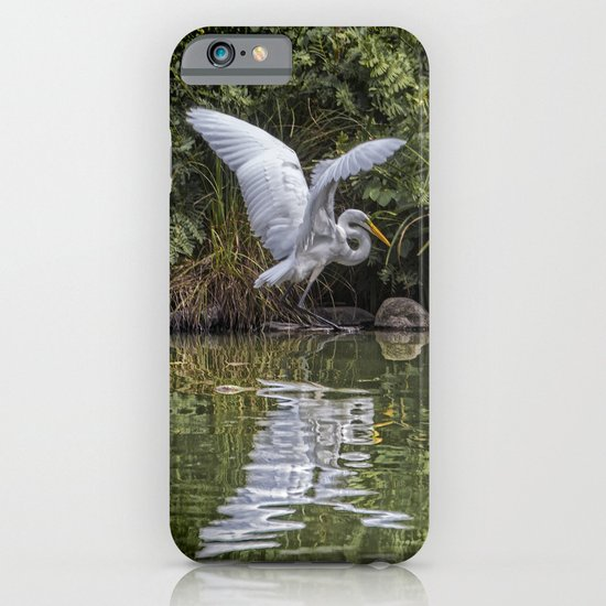 Egret Hunting iPhone & iPod Case