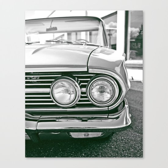 Chevy headlights Canvas Print