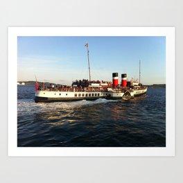 Waverley paddle steamer leaving Millport  Art Print