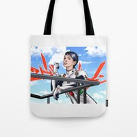 evangelion Tote Bags featuring Evangelion Rei Hathaway by Akyanyme