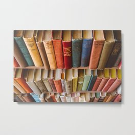 The Colorful Library Metal Print
