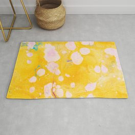 speckled marble | yellow Rug