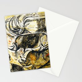 Panel of Rhinos // Chauvet Cave Stationery Cards