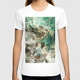 Teal Contemporary and Abstract Painting T-shirt