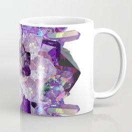 Violet Crystal Explosion Mandala Coffee Mug