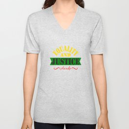 Equality and Justice tee design made specially for for justice lovers like you!  Unisex V-Neck