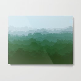 forest fog artwork design  Metal Print