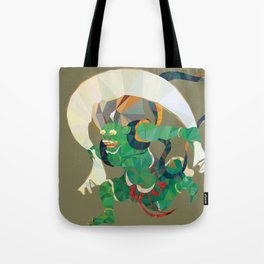 polygonal representation of Fūjin (japanese god of wind) Tote Bag