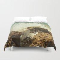 salt water Duvet Covers featuring Water by MucklowArt