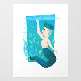 """Water"" Mermaid Art Print"