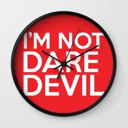 I'm Not Daredevil Wall Clock