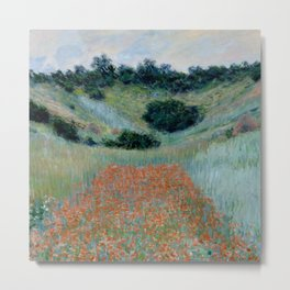 """Claude Monet """"Poppy Field in a Hollow near Giverny"""" Metal Print"""