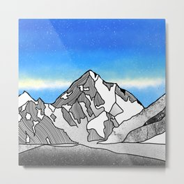 K2 MOUNTAIN LANDSCAPE Metal Print
