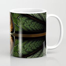 Elven Forest - Abstract Fractal Artwork Coffee Mug