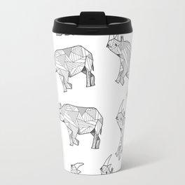 African Animals - Rhino White Travel Mug