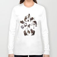 zodiac Long Sleeve T-shirts featuring Skeleton zodiac by Rozenn