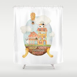 Keep your paradise in your heart Shower Curtain