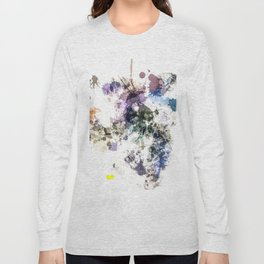 """""""Oops"""" Pastel Paint  Splatter Abstract Long Sleeve T-shirt"""