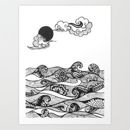 Swirly Water Art Print
