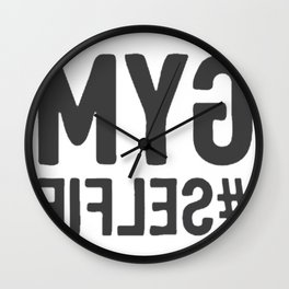 GYM SELFIE Wall Clock
