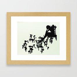 Placing Bets Framed Art Print