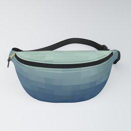 Gradient Pixel Aqua Fanny Pack