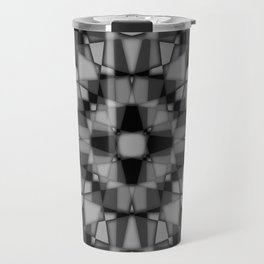 Dark kaleidoscope pattern Travel Mug