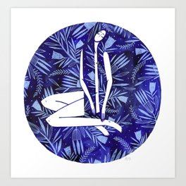 BlueGirl Art Print