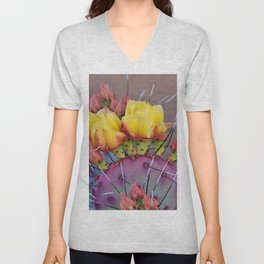 PRICKLY PEAR CACTUS Unisex V-Neck