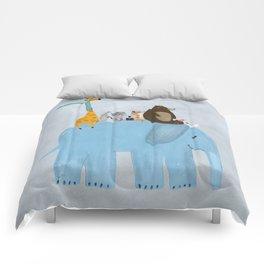 the big blue elephant Comforters