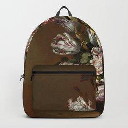 Stillife with flowers Hans Bollongier 1639 Backpack