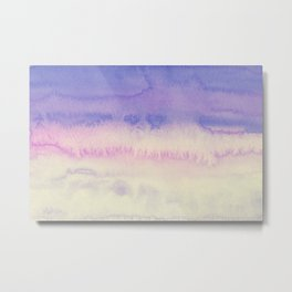 Sky Watercolor Texture Abstract 143 Metal Print