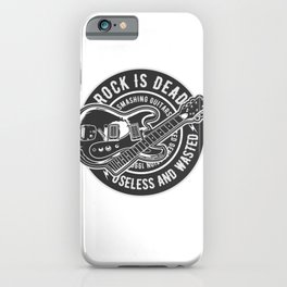Rock Is Dead Smashing Guitars iPhone Case