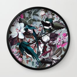 Floral and Birds XXIV Wall Clock