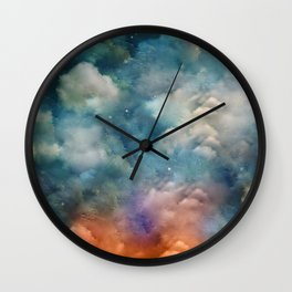 """""""Only in heaven, a sea of clouds"""" Wall Clock"""