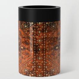 N151 - Orange Oriental Vintage Traditional Moroccan Style Artwork Can Cooler