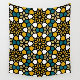 Persian Mosaic – Marigold Palette Wall Tapestry