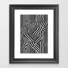 Dazzle Camo #01 - Black & White Framed Art Print