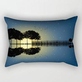 guitar island moonlight Rectangular Pillow