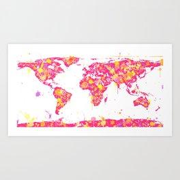 Graffiti World Map Art Print