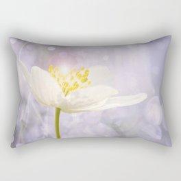 White Flower In The Forest Enchantments - Bokeh Background #decor #buyart #society6 Rectangular Pillow