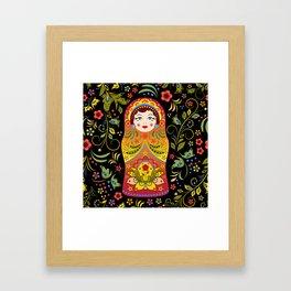 Russian matrioshka Framed Art Print
