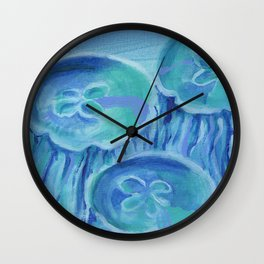 Striated Jelly Moons Wall Clock