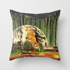 Earth house  Throw Pillow