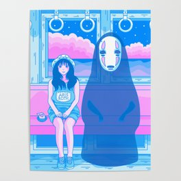 Spirited Train (15 Years Later) - Nostalgic Anime Interpretation Poster